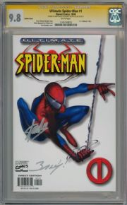 Ultimate Spider-man #1 White Variant CGC 9.8 Signature Series x2 Signed Stan Lee comic book
